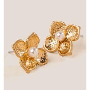 Jasmine Flower Pearl Studs